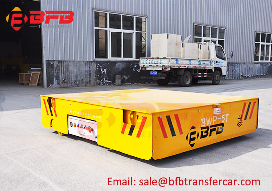 Workshop Steerable Battery Operated Transfer Carts 5 Ton