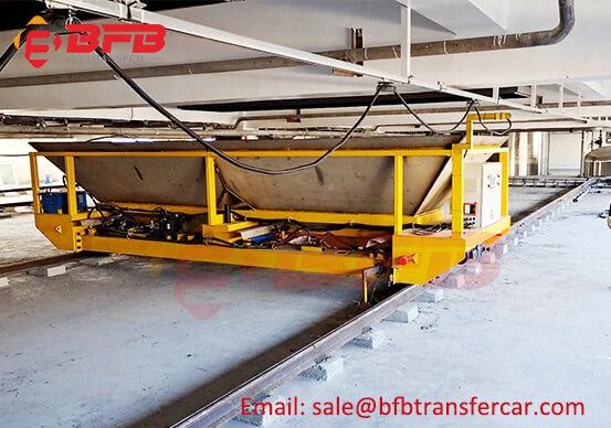 Automatic Hopper Transportation 10T Transfer Cart Trolley On Rails