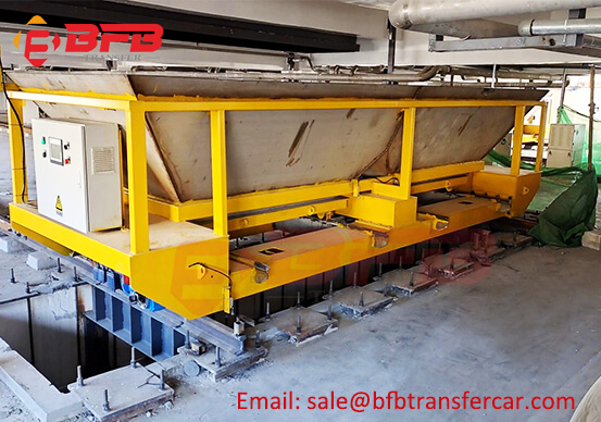 Automatic 10T Transfer Cart Trolley On Rails For Scrap Material Handling