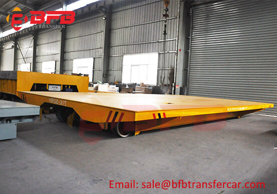30T Electric Rail Transfer Cart Running On Turntable
