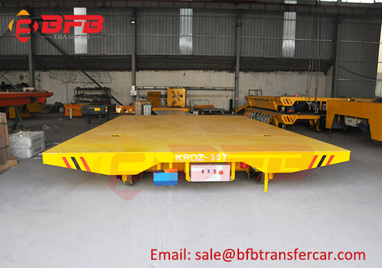 30T Electric Rail Transfer Cars Running On Turntable For Heavy Head Handling