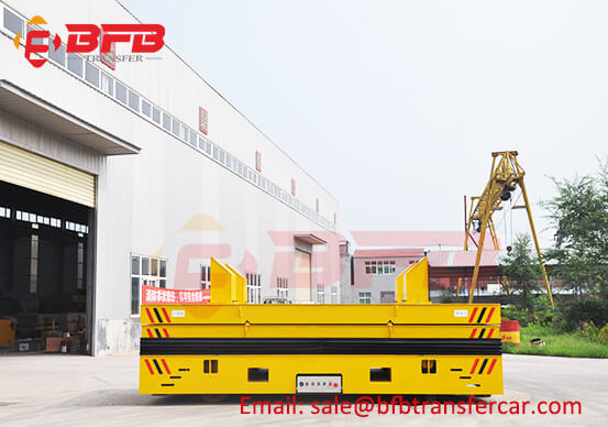 25T Steerable Power Motorized Cart With Lifting Platform For Wire Coil Transfer