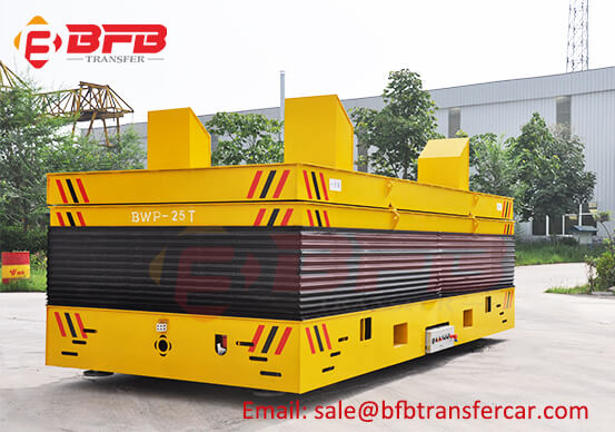 25T Steerable Power Motorized Carts With Lifting Platform