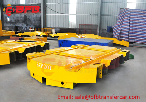 Vibrating Screen Industry Railroad Turntable Transfer Cart 20MT On Railway