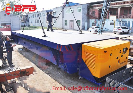 Blue Omni Diesel Power 40 Ton Lifting Transfer Car Price In Rail Track