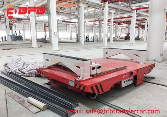 V Frame Electric Rail Mounted Trolley 12 Ton For Aluminum Coil Transfer