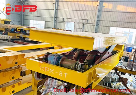 8T Hydraulic Lifting Rail Transfer Car For Workshop Car Frame Handling