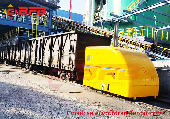 Site Showing Busbar Power Train Tractor Transfer Cart On Rails
