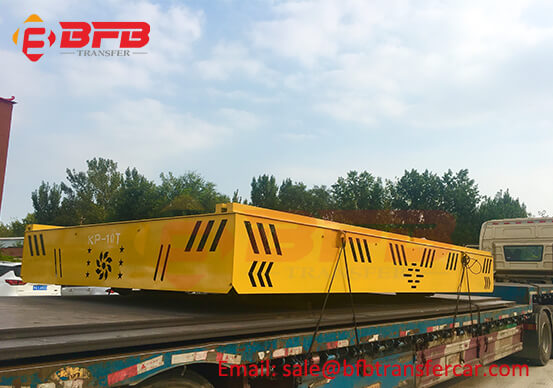 10T No Power Industrial Turning Rail Transfer Trolley For Special Equipment Handle