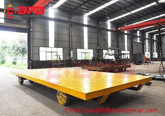 Forklift Push 15T Material Transfer Flat Platform Cart For Manufacturing Workshop