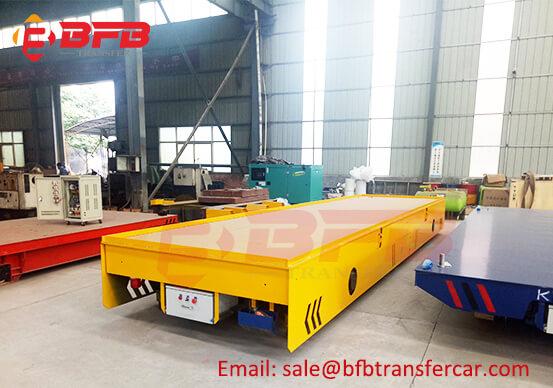 50T Rail CableDrumPoweredTransferTrolley For Steel Mill Scrap Material Handling