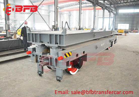 ISO Gray Color 15MT Electric Track Trolley For Car Assembly Line Transfer
