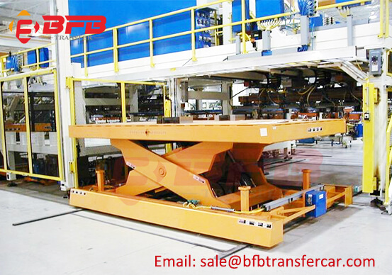 10T Rails Industrial Powered Lifting Cart For Transporting Steel Frame Exported Brazil