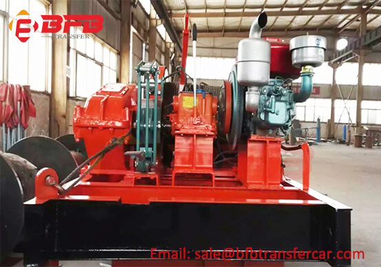 JM5 Diesel Engine Electric Winch Shipped To Poland