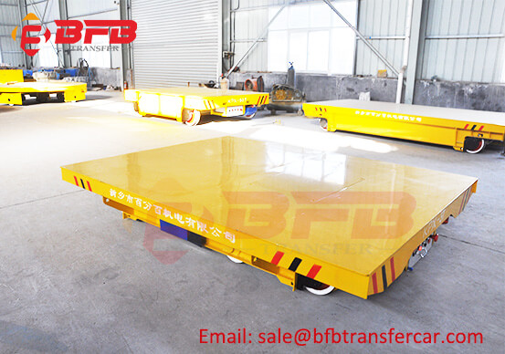 Battery Power 3 Ton Material Transport Vehicles On Rails For NDT Room Transfer