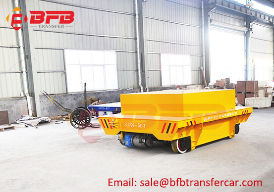 Battery Power 50 Tons Steel Ladle Car Bogie For Railway Ladle Tractor