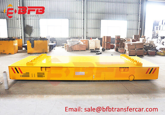 Battery Power Electric Industrial Trolleys With Wheels For Transporting 10 Ton Pipe