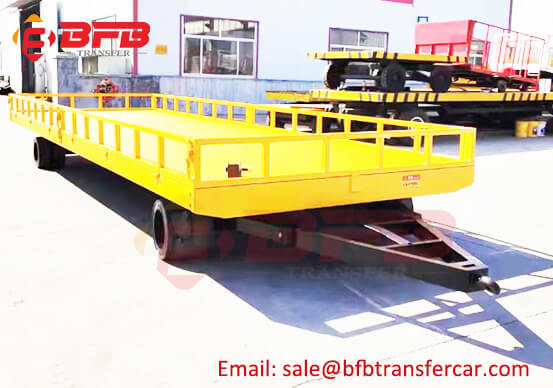 20T Industrial Transport Trailer Towing Dolly For Jumbo Roll Transfer
