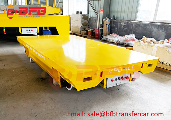 10T Marble Transportation Electric Platform Trolley Transfer On Rails