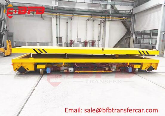 PLC Battery Power Rail Transfer Heavy Load Trolley 20T RGV For Coating Line