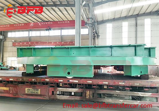 10T Electric Heavy Industrial Turntable On Rails For Oil Field Equipment Transfer