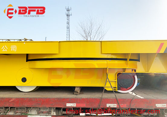 Customized 50T Steel Plant Ladle Transfer Trolley With Turn Table On Rails