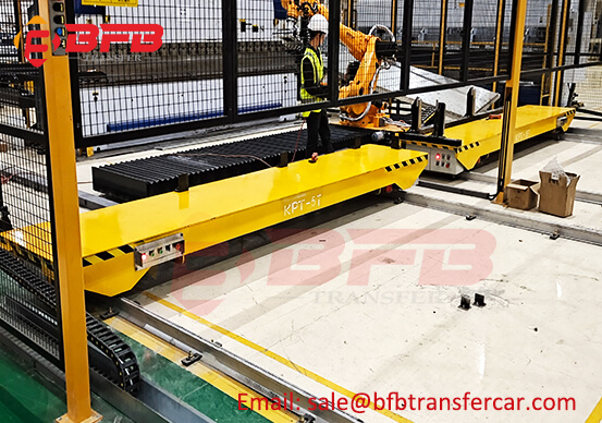 PLC Cable Power Rail Motorised Cart 5ton Capacity For Robot Arm Transfer