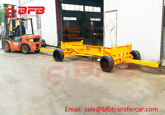 Skeleton Structure 15T Trailer With Double Towing Bar For VAB Equipment Transfer