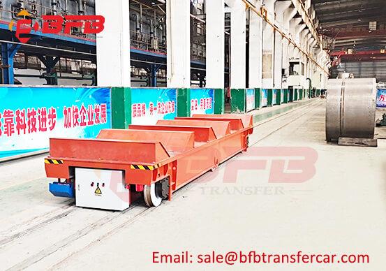 Workshop 65 Ton Steel Rail Galvanized Coil Transfer Cart With V Frame