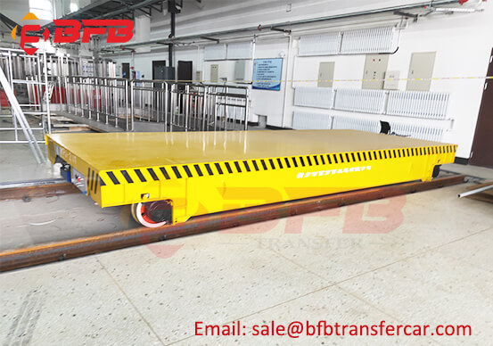 Cable Automated Rail Cart 20 Tonnes For Sandblasting Room Structural Parts Transfer