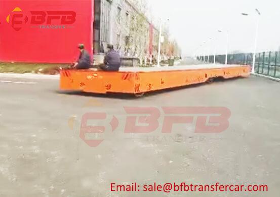 Customized Overlength Heavy Duty Flat Transfer Trolley 10T Outdoor Handler
