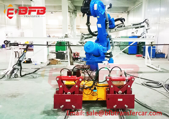 Cable Powered 2 Ton Electric Rail Cart And Track For Robot Transfer