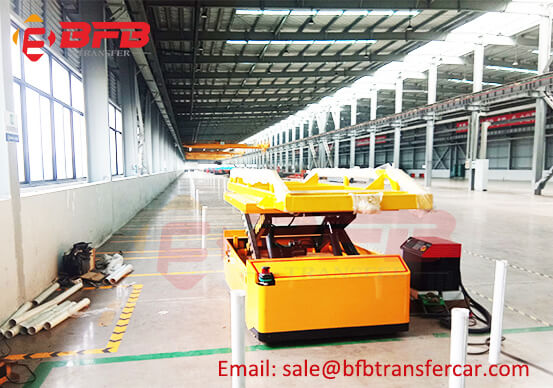 Motor Drive Wheel Industrial AGV 2 Ton Transfer Cart Workshop Tested Successfully