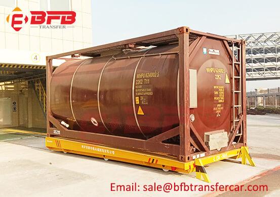 PLC Custom 30 Tons Battery Rail Transfer Cart for Chemical Tank Handling