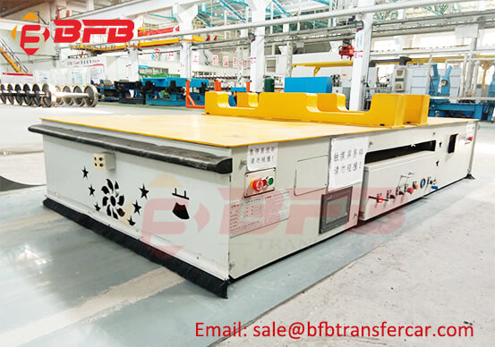 Heavy Duty Transfer AGV Magnetic Navigation Working Site Showing