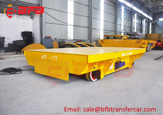 7 Ton Load Electric Driven Transfer Platform For Structural Steel Painting