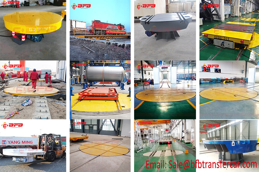 Industrial Rail Transfer Cart Turntable Design Showing