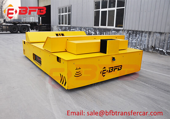 20T Wire Coil Transfer Trackless Electric Flat Car On Floor