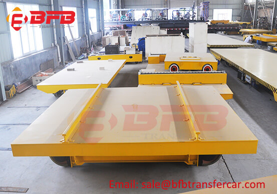 75T Busbar Power Motor Driven Transfer Cart For Industrial Furnace Carry