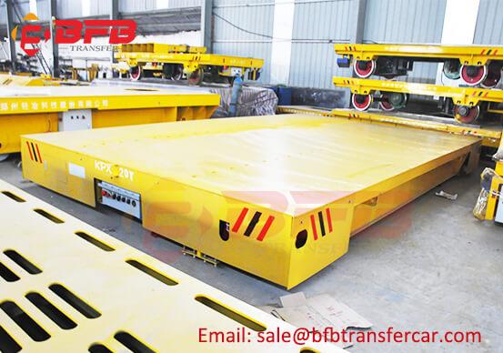 20T Heavy Loading Transport Rail Trolley For Explosion Proof Shop Tank Transfer