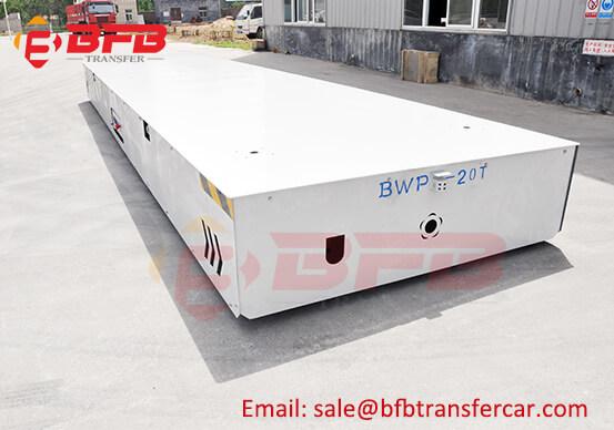20 Ton Trackless Tyre Electric Transfer Cart Inside Workshop Handling