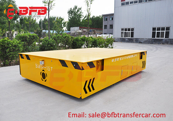 Workshop 15T Mould Trackless Transfer Cart On Cement Ground