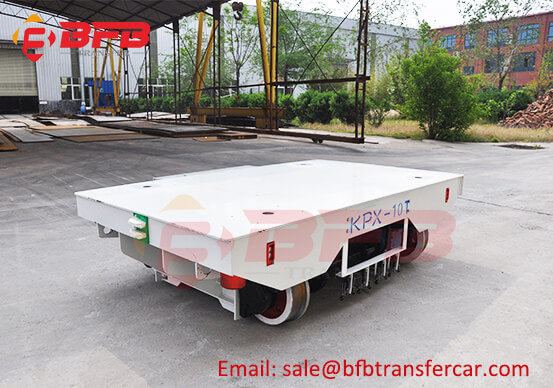 PLC System 10 Ton Rail Guided Automated Vehicle With Lateral Movement