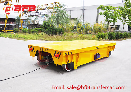 30 Tons Motorised Trolley With Track System For Ship Body Transfer