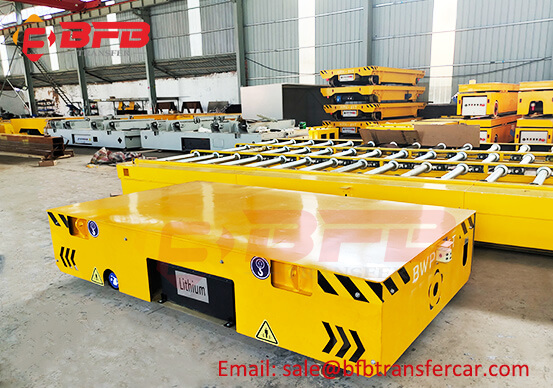Turkey Clients Test The 5 Ton Mold Handling Platform Trackless Transfer Cart Successfully