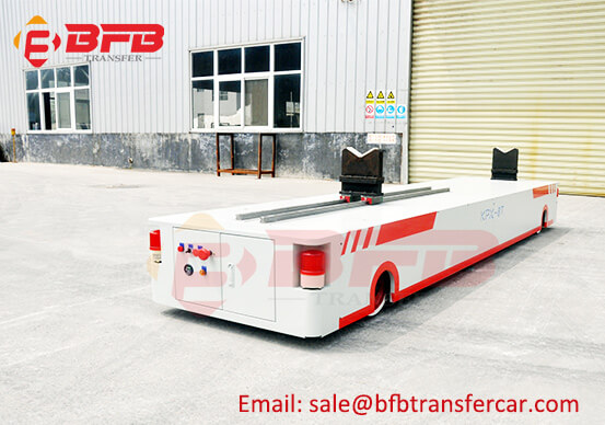 Battery Power Automatic Rail Transfer Cart For 8T Corrugating Roll Handling