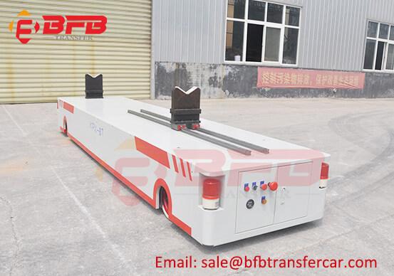 Battery Power Rail Transfer Cart For 8T Corrugating Roll Handling