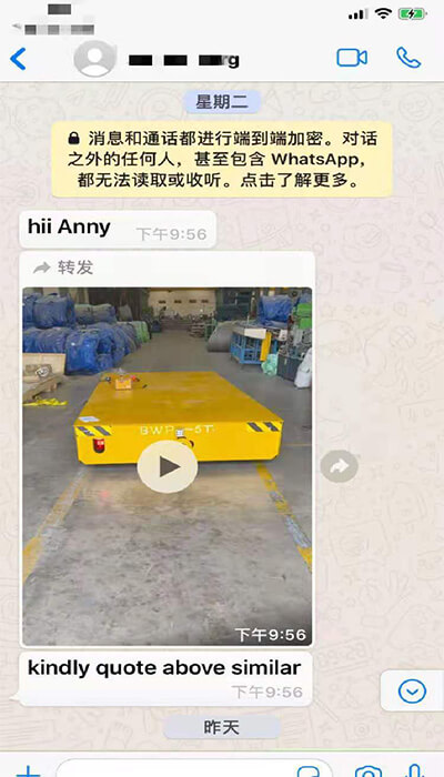 5 Ton Industrial Electric Trackless Transfer Cart Exported UAE